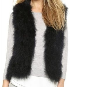[NEW] Club Monaco Black Feather Vest